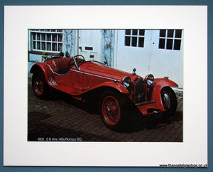 Alfa Romeo 8C 2.6 L 1931. Photo Print 1973. (ref AD1324)