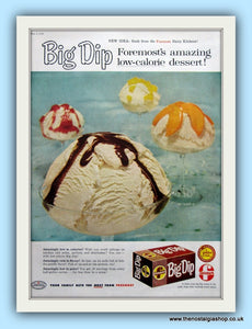 Big Dip Ice Cream. Original Advert 1958 (ref AD8125)