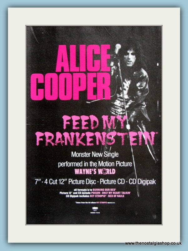 Alice Cooper - Feed My Frankenstein 1992 Original Advert (ref AD2938)