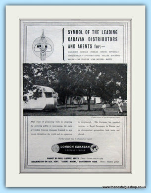 London CaravanOriginal Advert 1952 (ref AD6359)