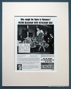 Gevacolor Film Set Of 4 Original Adverts 1963 (ref AD1075)