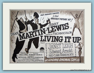 Living it Up-Dean Martin, Jerry Lewis 1954 Original Film Advert (ref AD3341)