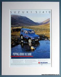 Suzuki SJ410 1986 Original Advert (ref AD1728)