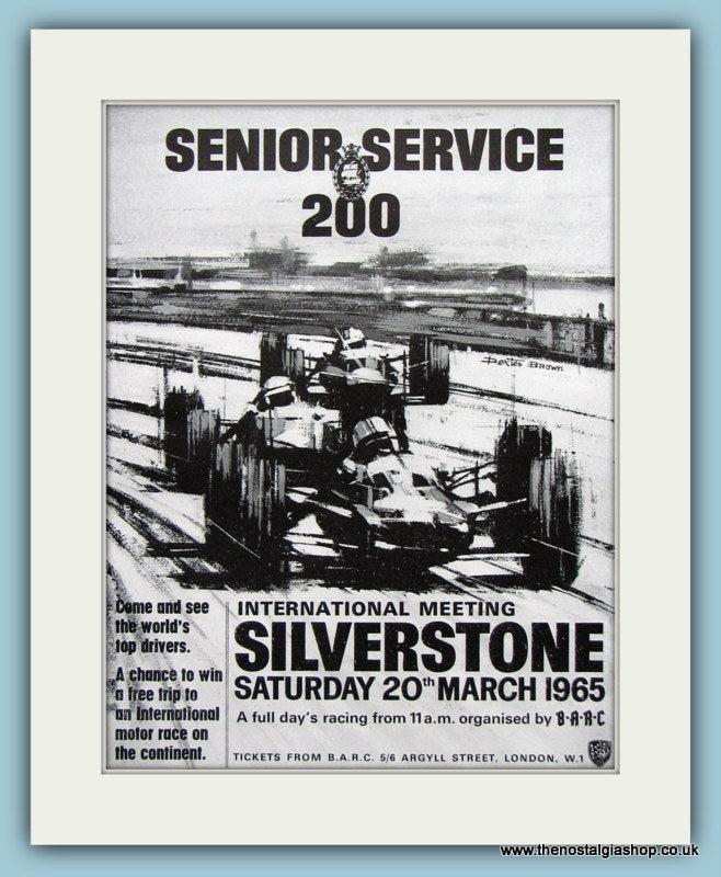 Silverstone International Meeting 1965. Original Advert (ref AD2005)
