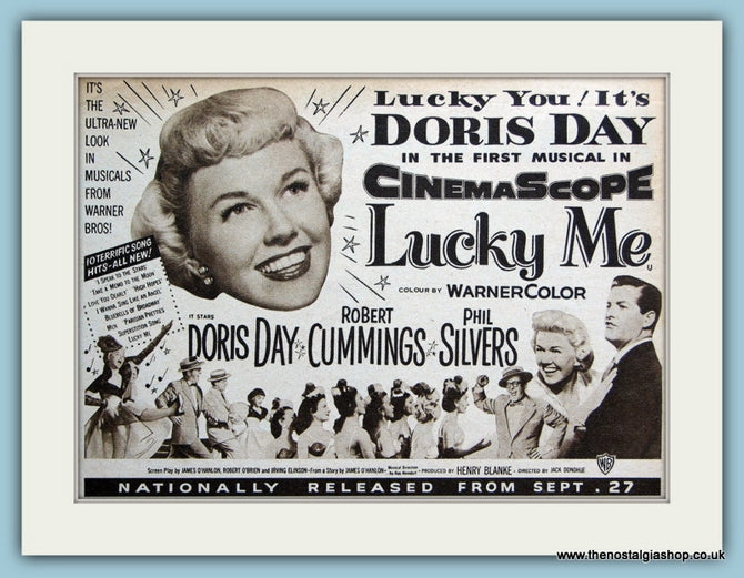Lucky Me-Doris Day 1954 Original Film Advert (ref AD3336)