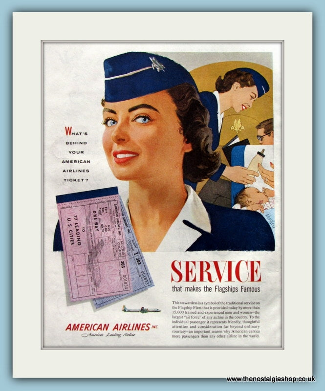 American Airlines Original Advert 1957 (ref AD8258)