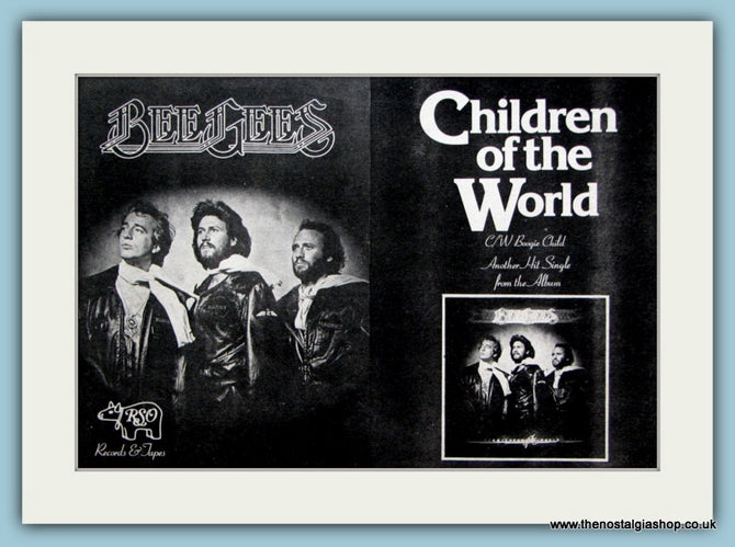 Bee Gees Children of The World Original Advert 1976 (ref AD2082)