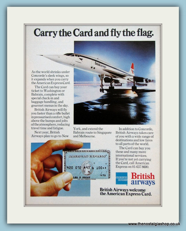 British Airways Original Advert 1977 (ref AD2153)
