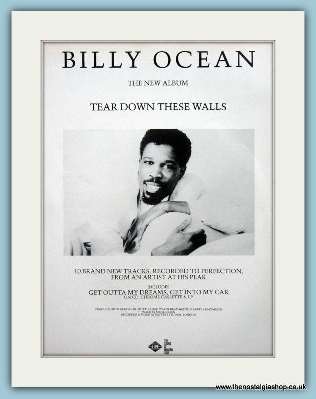 Billy Ocean Tear Down These Walls 1988 Original Music Advert (ref AD3443)