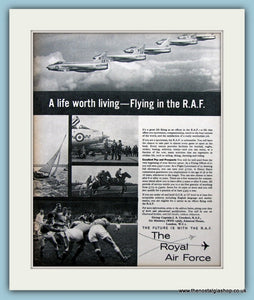 R.A.F Career Original Advert 1962 (ref AD6297)
