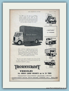 Thornycroft Transport Equipment Original Advert 1960 (ref AD2979)