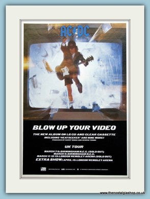 AC DC Blow Up Your Video 1988 Original Advert (ref AD3108)