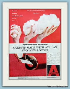 Acrilan Carpets Original Advert 1959 (ref AD2555)