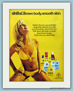Delial Sun Cream Bayer Ltd Original Advert 1975 (ref AD4499)
