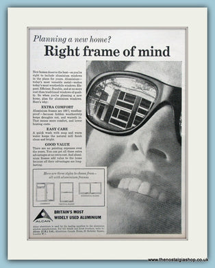 Alcan Aluminium Windows Original Advert 1964 (ref AD3666)