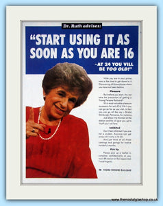 Young Persons Railcard Dr Ruth Advises  Original Advert 1990 (ref AD6558)