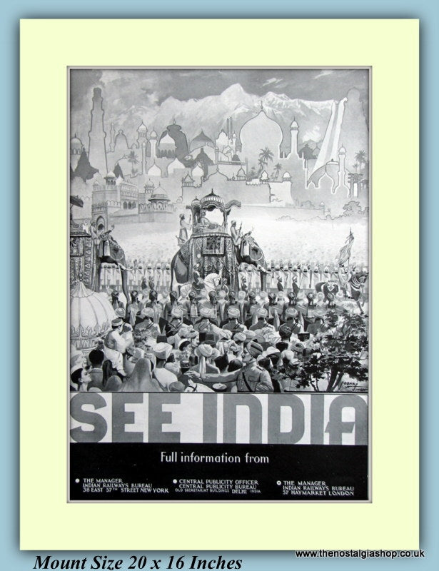 See India Railways Original Advert 1937 (ref AD9415)