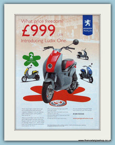 Peugeot Ludix One Scooters Original Advert 2004 (ref AD4190)