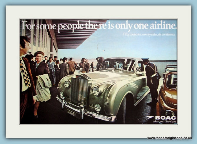 BOAC Airlines Original Advert 1970 (ref AD2191)