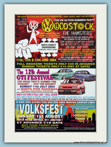 VWoodstock & Volksfest 2004 Events. Original Advert (ref AD2045)
