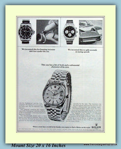 Rolex Datajust Watch Original Advert 1966 (ref AD9383)