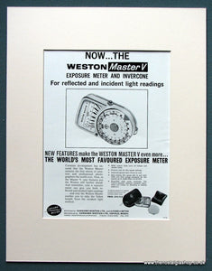 Weston Master V Meter 1963 Original Advert (ref AD1089)