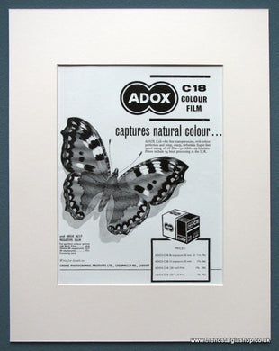 Adox C18 Colour Film 1963 Original Advert (ref AD1077)