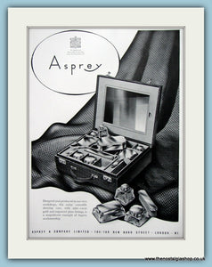 Asprey London Jewellers Original Advert 1953 (ref AD6264)