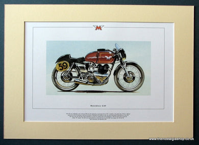 Matchless G45 Mounted Motorcycle Print (ref PR3030)