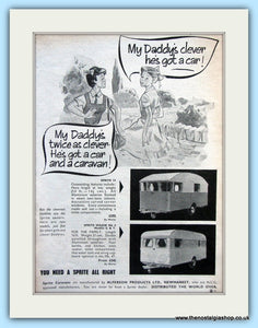 Sprite 14 & Sprite Major Mk 4 Caravans Original Advert 1956 (ref AD6353)