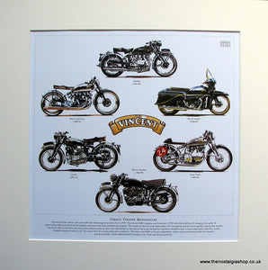 Vincent Motorcycles Mounted Print