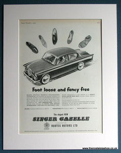 Singer Gazelle1959 Original Advert (ref AD1702)