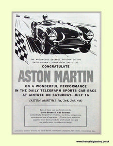 Aston Martin Sports Car Race Aintree Original Advert 1955 (ref AD6759)