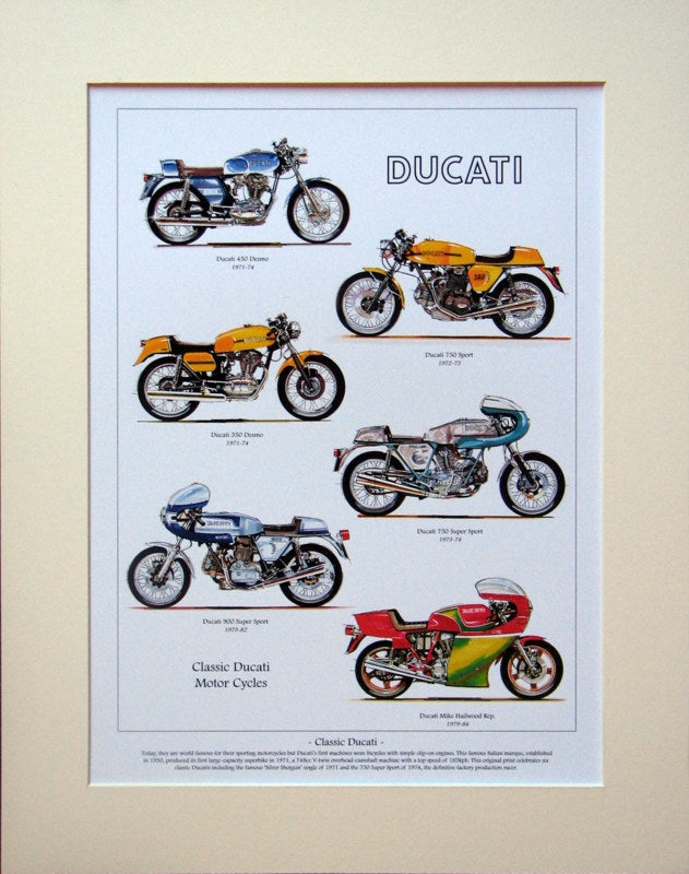 Ducati  Motorcycles  Mounted print