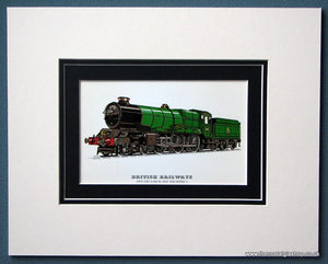 British Railways 'King George V' Mounted Print (ref SP77)