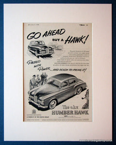Humber Hawk. Original advert 1954 (ref AD1130)