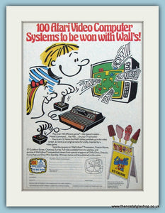 Atari Video Computer Competition From Walls Ice Cream Original Advert 1982 (ref AD6424)