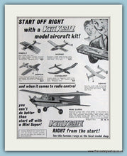 Load image into Gallery viewer, Keilkraft Aircraft Models Set Of 2 1966 Original Adverts (ref AD2865)