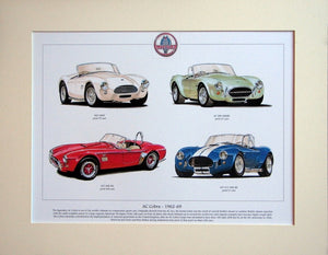 AC Cobra 1962 - 1969  Mounted print