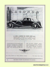 Load image into Gallery viewer, Lagonda Set Of 2 Original Adverts 1937 (ref AD6727)