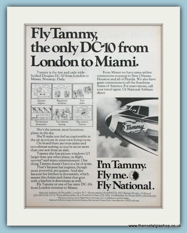 Tammy DC-10 Original Advert 1973 Original Advert (ref AD2134)