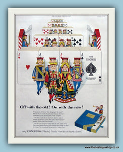 Congress Playing Cards. Original Advert 1953 (ref AD8084)