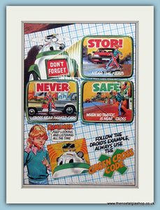 Green Cross Code Set Of 2 Original Adverts 1982 (ref AD6440)