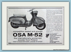 OSA M-52 Scooter From Poland 1964 Original Advert (ref AD4662)