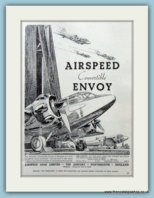 Airspeed Convertable Envoy. Original Advert 1938 (refAD4214)
