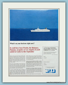 P & O Liner Original Advert 1967 (ref AD2282)