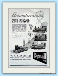 W.G.Bagnall Ltd Locomotives Original Advert 1951 (ref AD6476)