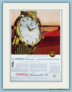 Omega Seamaster Watch. Original Advert 1959 (ref AD6106)