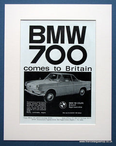 BMW 700 Coupe Comes To Britain. Original advert 1962 (ref AD1410)