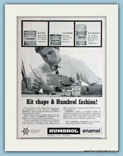 Load image into Gallery viewer, Humbrol Enamel  Set Of 2 1966 Original Adverts (ref AD2863)